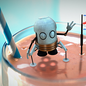 Tiny Milkshake Hello Animation